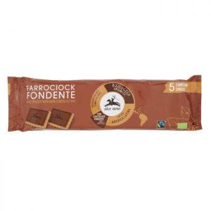 Alce Nero Pirin piškot s temno čokolado 5x28g