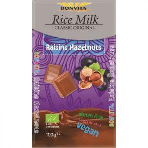 Bon Vita veganska čokolada lešnik/rozine 100g