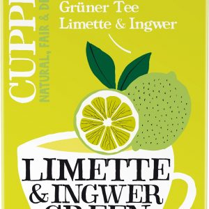 Cupper Zeleni čaj limeta ingver 20x1,5g