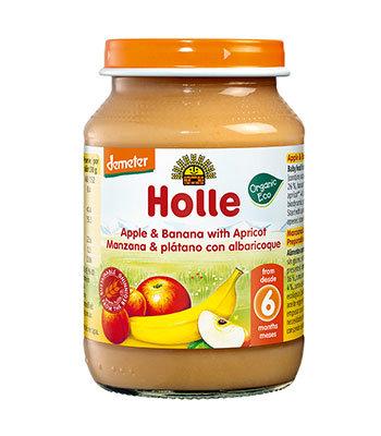 Holle Bio Kašica jabolko banana marelica 190g