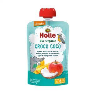 Holle Bio Kašica krokodil jabolko mango kokos 100g