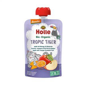 Holle Bio Kašica tiger jabolko mango pasjonka 100g