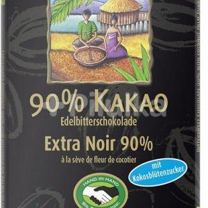 Rapunzel Čokolada 90% s kokosovim sladkorjem 80g