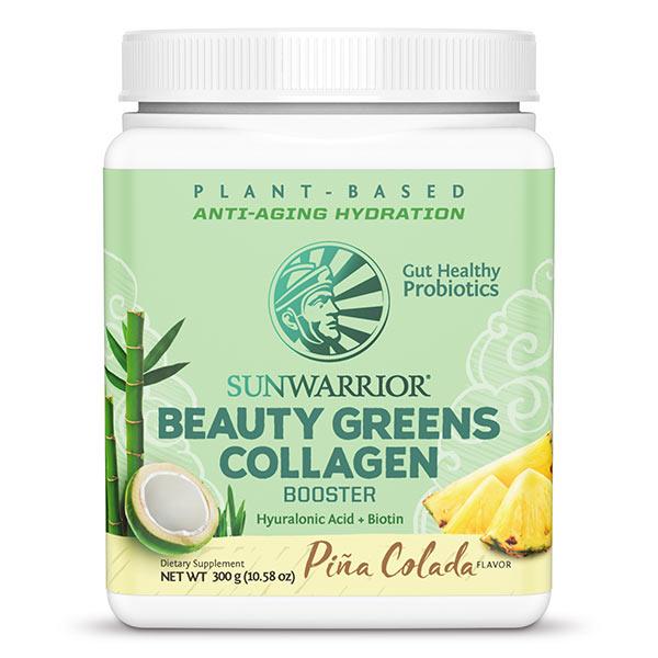 Sunwarrior Beauty greens kolagen gradniki, Pina colada, 300 g